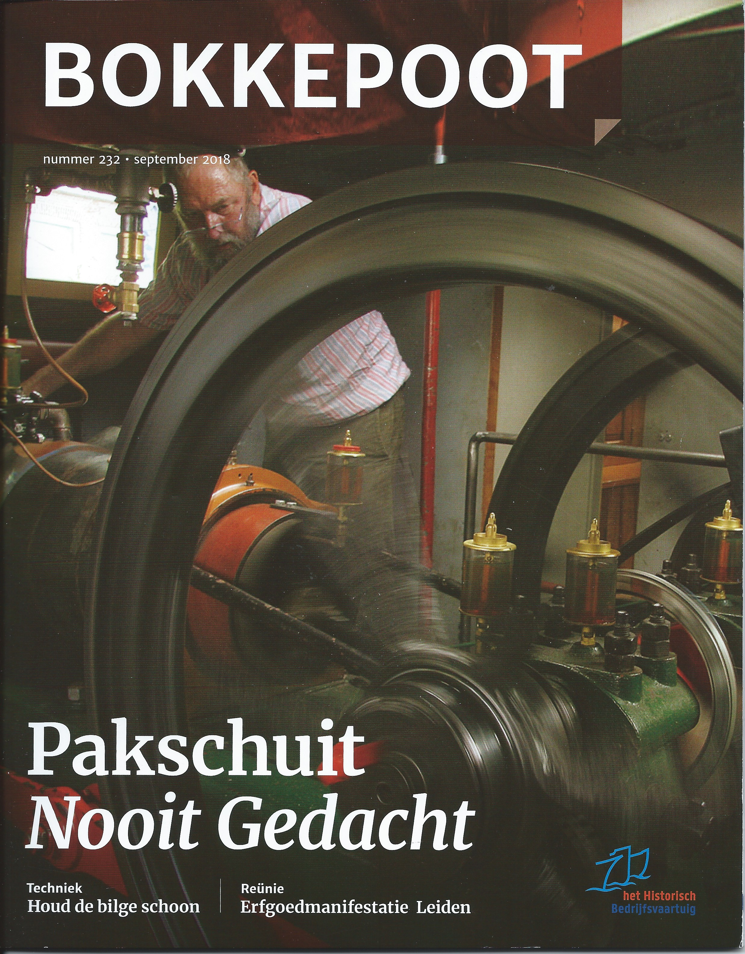 Peter Beckmann en Van Rennes-motor op het omslag van Bokkepoot
